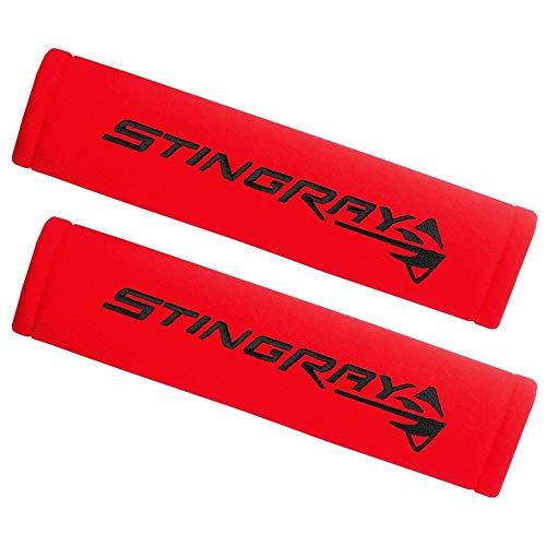 Corvette Seatbelt Harness Pad : C7 Stingray (Red)
