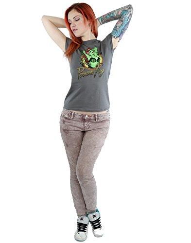 DC Comics Damen Bombshells Poison Ivy Badge T-Shirt XX-Large Holzkohle