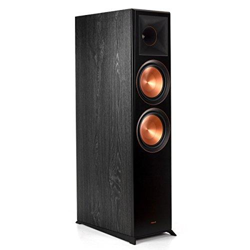 """Klipsch Reference Premiere Dual 8"""" 900-Watt Passive 2-Way Floor Speaker (Each) Ebony 1065792 RP8060FA BLACK"""