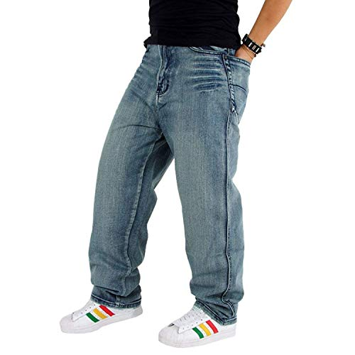 Vintage Jeans Di Ballerino Da Larghi Casual Colour Denim Mode Pantaloni Uomo Marca Classici Hip Hop HIIqd