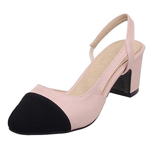 Sandales Talons Slingback Pink TAOFFEN Bloc Femmes vtq4p4