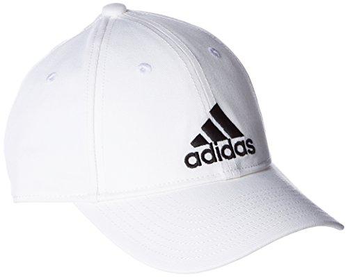 adidas Men Classic Six-Panel Cap - White/White/Black, One Size (Adidas Sport Performance Buckle)
