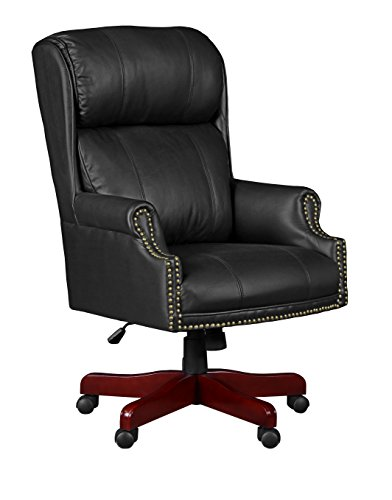 (Regency 9099LBK Barrington Swivel Chair, Black)
