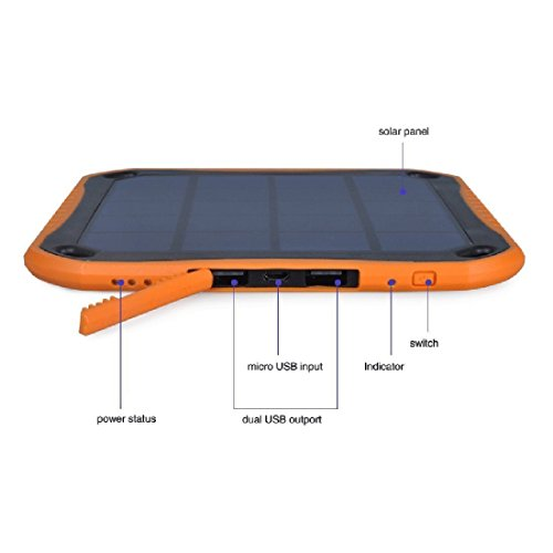 Extreme ECO Solar CAT S60 SmartPhone Window/Travel Rapid Charger Power Bank! (2.1A/5600mah) by Mobile Power (MP) (Image #6)