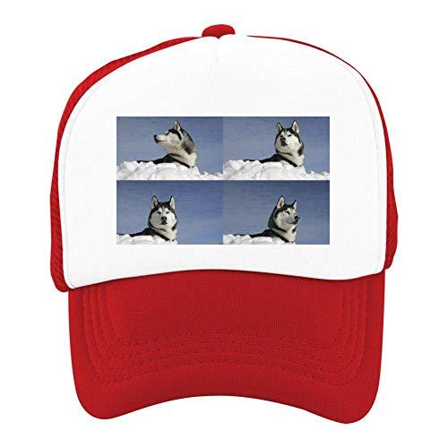 EThomasine Kids Girls Boys Mesh Cap Trucker Hats Alaskan Malamute Adjustable Hat Red by EThomasine