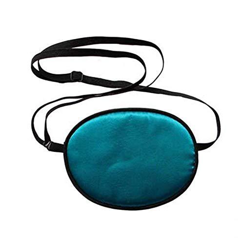 Amedve Pirate Eye Patch, Silk Eye Patch for Kids Infants Lazy Eye Amblyopia Strabismus (Aqua Blue)
