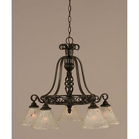Amazon.com: 5 lámparas de araña con cristal esmerilado en ...
