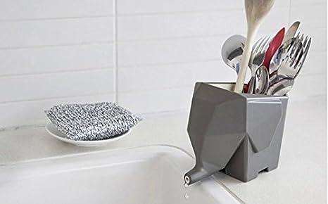 Rainbow Love Cute Elephant Home Kitchen Escurridor para cubiertos ... 9340065c7d99