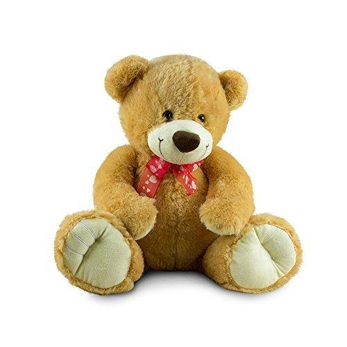"Beverly Hills Teddy Bear Company Sitting Bear with Bow 18"""