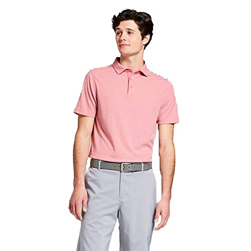 Champion C9 Men's Pique Golf Polo Shirt - (Terra Cotta Pink, - Champion Pique