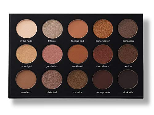 15 Nudes & Rudes Highly Pigmented Professional Neutral Eyeshadow Palette - Everyday Makeup Shadow Palette with Intense Pigment