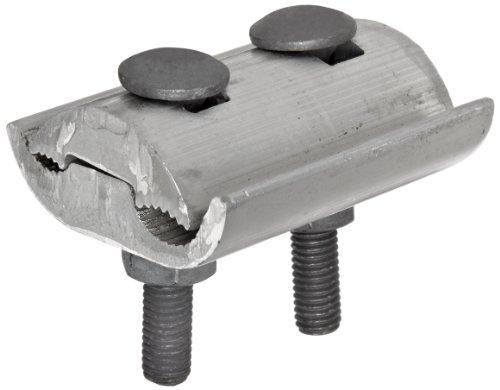 Morris Products 96026 Parallel Groove Clamp, 2 Bolt, Aluminum, 1/0 - 397.5 CU-AL Main, .373 - .720
