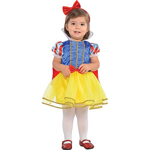 Suit Yourself Classic Snow White Halloween Costume for Babies, 12-24 M, Includes Headband