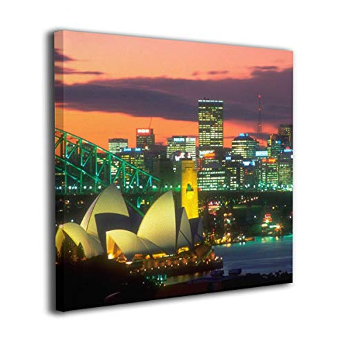Jaylut Square Frameless Painting Print Artwork Sydney Opera House Drawing Picture Wall Decor for Home Office 12