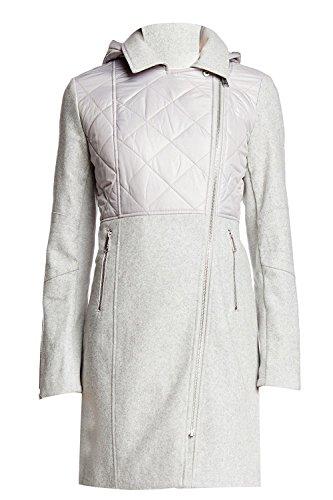 BCBGeneration Women's Grey Asymmetrical Zip Mixed Media Coat (S)
