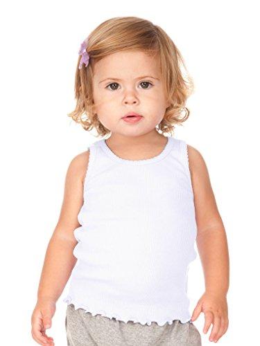 Baby White Tank - Kavio! Infants Scalloped Beater Tank White 18M