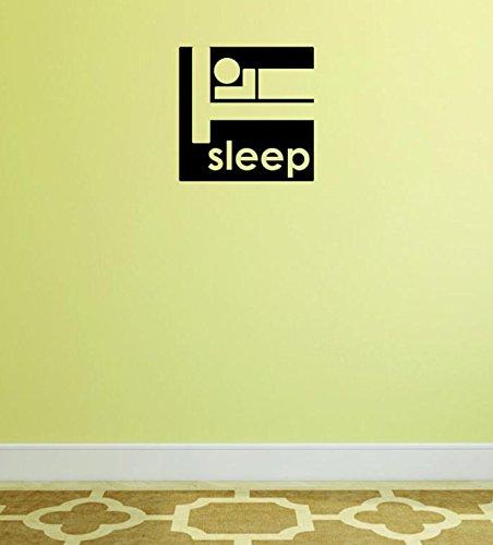 Design with Vinyl Moti 1555 1 Sleep Quote Outdoor Sports Wildlife Men Peel /& Stick Wall Sticker Decal Black 8 x 20