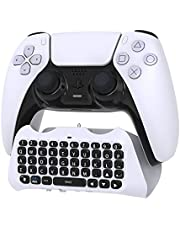 PS5 Controller Keyboard Keypad - Wireless Bluetooth Game Chatpad Keyboard, 47 Keys Keypad - Built-in Speaker & 3.5mm Headset Audio Jack for Playstaion 5 Dualsense Game Controller