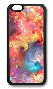 MOKSHOP Adorable fractal abstract patterns Soft Case Protective Shell Cell Phone Cover For Apple Iphone 6 (4.7 Inch) - TPU Black
