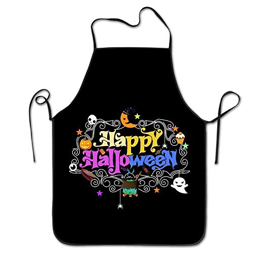(Sandayun88x Apron Kitchen Apron for Women Cute Apron Dress Men Cooking Apron Pinafore Happy Day of The Dead Halloween Vintage)