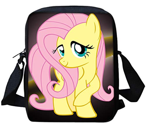 Fluttershy My Little Pony Print Crossbody Purse for Women Crossover Body Bag Over the Shoulder