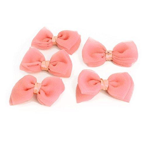 eDealMax Mujeres Boutique Bowknot en Forma mayorista Hairclips Apliques decoracin Arcos 5 PCS Rosado coralino