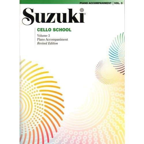 Alfred Suzuki Cello School Piano Accompaniment Volume 3 Book (Violin Suzuki Bass)