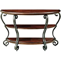247SHOPATHOME Idf-4326S, sofa table, Brown Cherry