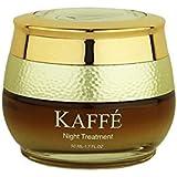 Kaffé 100% All Natural Night Cream Infused with 100% Organic Kona Coffee for Skin Renewal, Anti Aging, Skin Brightening, Skin Enhancement (1.7 oz.)
