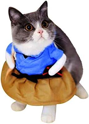 OGGID Ropa para Gato y Perro Vestido para Gatito Disfraz de Cosplay Ropa Pijamas Abrigo Mono Chaqueta Diseño Divertido con Patrón Varios Estilo 4 Tamaños (M, D): Amazon.es: Productos para mascotas