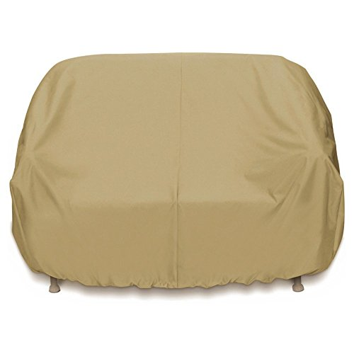 Designs 3 Dogs Two Seat - Two Dogs Designs Home and Garden 2D-PF88365 3-Seat Sofa Cover with Level 4 UV Protection, Khaki