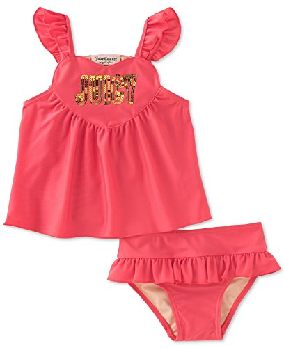 Juicy Couture Baby Girls Dark Coral 2pc Swimsuit (18M)