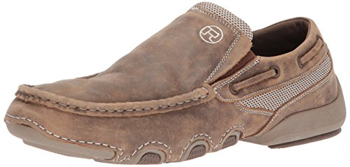 Roper Style Boots (Roper Men's Skipper Driving Style Loafer, Tan, 9.5 Medium US)
