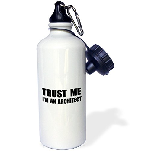 (3dRose wb_195589_1 Trust me Im an Architect - fun architecture humor funny job work gift Sports Water Bottle 21 oz)