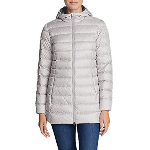 Eddie Bauer® Womens CirrusLite Down Parka (Ligth Gray Heather, Large) free shipping