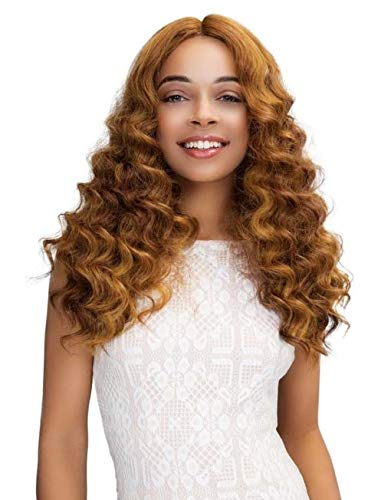 JANET COLLECTION EXTENDED PART DEEP SWISS LACE FRONT WIG - GABRIELA (MOCHA ()