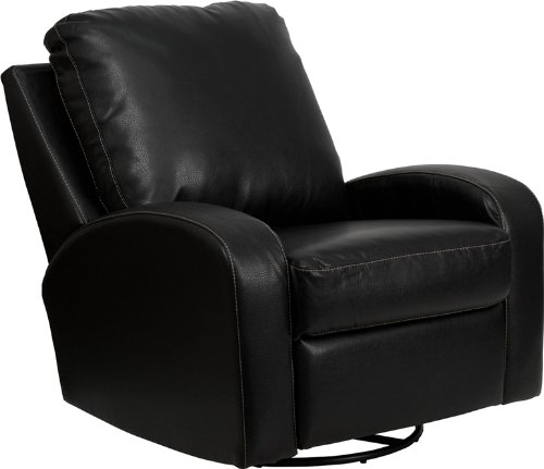 Merveilleux Amazon.com: Flash Furniture Contemporary Thomas Black Leather Swivel Glider  Recliner: Kitchen U0026 Dining