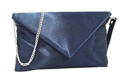 Borsetta donna made in Italy l.raso elegante 752R blu made in italy