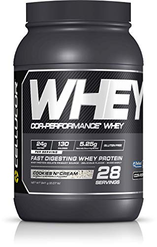 Cellucor Whey Protein Isolate & Concentrate Blend Powder with BCAAs, Post Workout Recovery Drink, Gluten Free Low Carb Low Fat, Cookies and Cream, 28 Servings, 33.12 Ounce