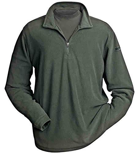 - DRI Duck Men's Element Nano Fleece Pullover Shirt (Evergreen, Small)