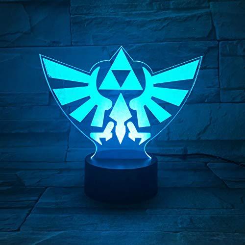 Juego The Legend of Zelda Logo Lámpara de mesa Lámpara ...