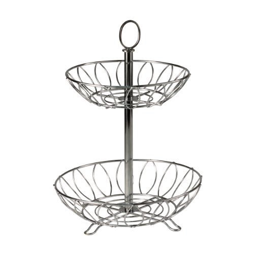 - Spectrum Diversified Leaf Tiered Server, Tiered Stand, Chrome