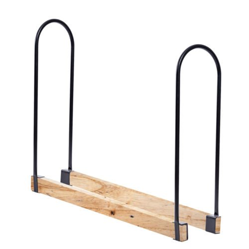 Outdoor Adjustable Length Kitchen Firewood Log Rack Heavy Steel Wood Storage