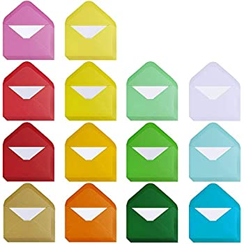 Amazon business card size envelopes 2 18 x 3 58 white 100 supla 140 sets colorful mini envelopes with white blank business cards note cards 14 colors small gift card tiny envelopes pocket envelopes bulk 4 x 27 colourmoves