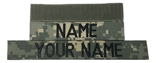 - Customized Name Tape, with Fastener or Sew-On, ACU Multicam OCP Black ABU OD Green Desert Tan NavyBlue - Custom - US ARMY USAF USMC POLICE CivilAirPatrol Tape, Customized (ACU, Without Fastener)