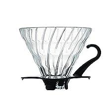 Hario VDG-02B V60 Glass Coffee Dripper, Black