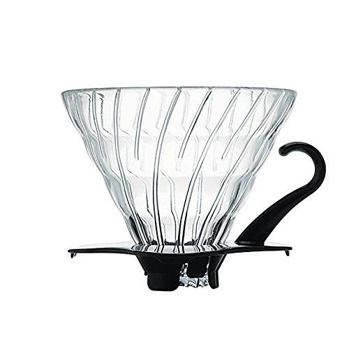 Hario V60 Glass Coffee Dripper, Size 2, Black