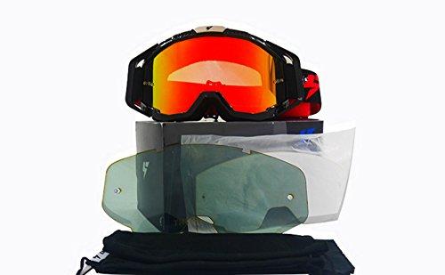 PC Viento Libre y para Gafas al Red Espejos Aire Lentes Todoterreno protegidas de Deportes de contra Prueba Ciclismo explosiones Polvo 7qRYUwfq