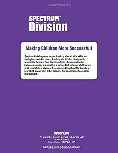 Division Workbook, Grade 4 (Spectrum): Spectrum: 0044222237141 ...