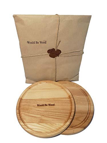 Wood Cutting Board Sectional Double-sided Round Ash Wood Board plate 9.9 Inch More Reliable than Bamboo Cutting Board and Plastic Cutting Boards Serving board For Mincing and Rocker Knives with Juice